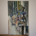 100x60cm, aquarell acryl spachtelmasse auf leinwand