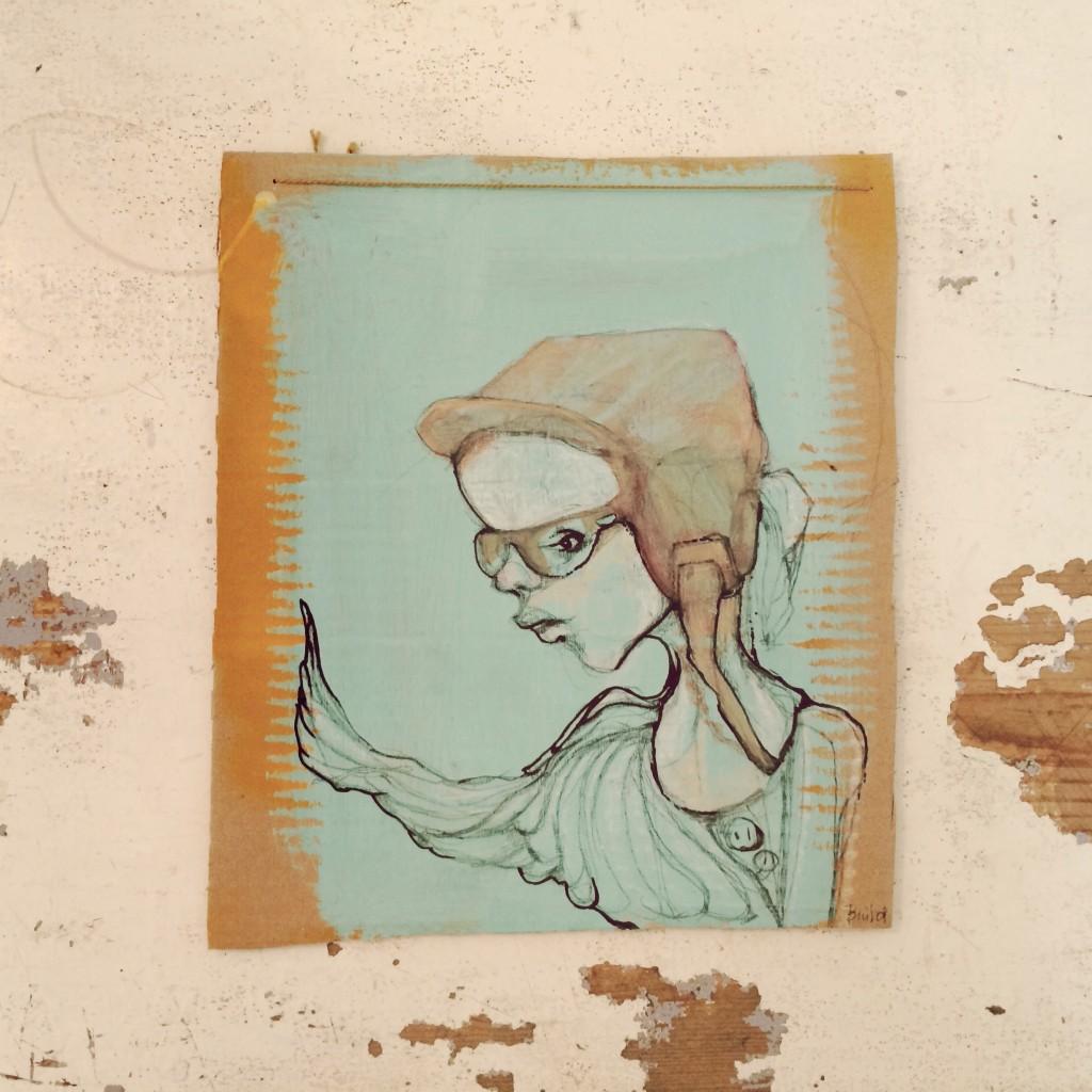 28x24cm, acryl, bleistifft, permanent marker auf karton