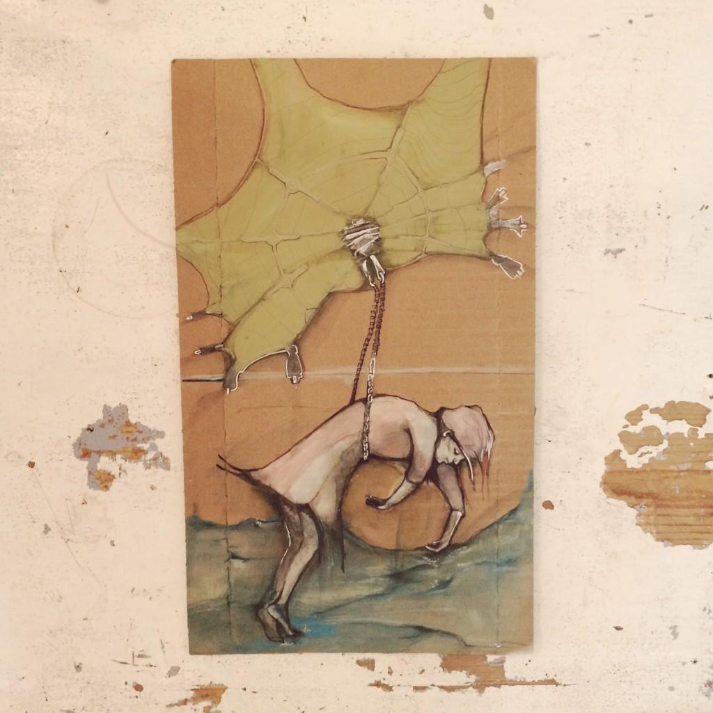 41x24cm, aquarell auf karton