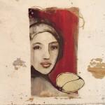 43x23cm, acryl,permanent marker,kunstleder auf karton