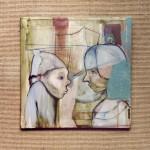 50x50cm, acryl,papier auf leinwand