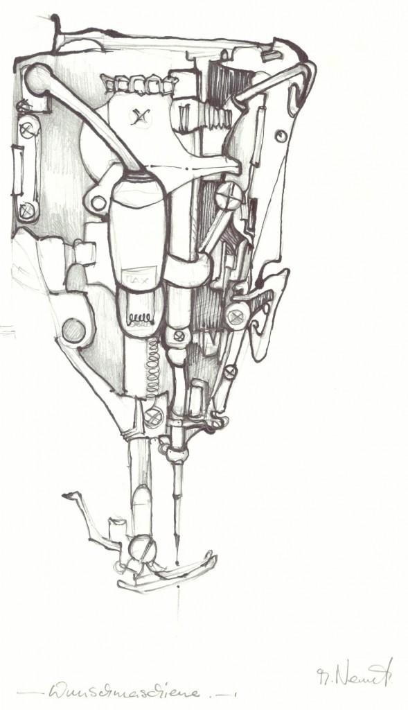 Zeichnung.Wunschmaschiene
